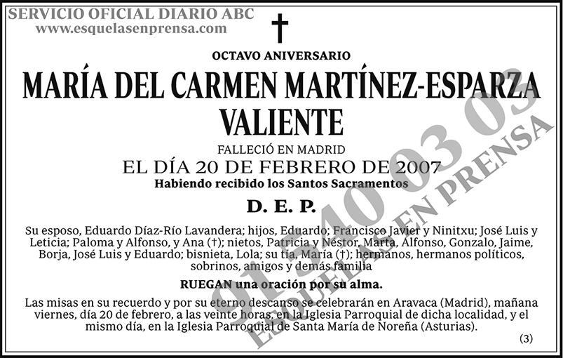 María del Camen Martínez-Esparza Valiente